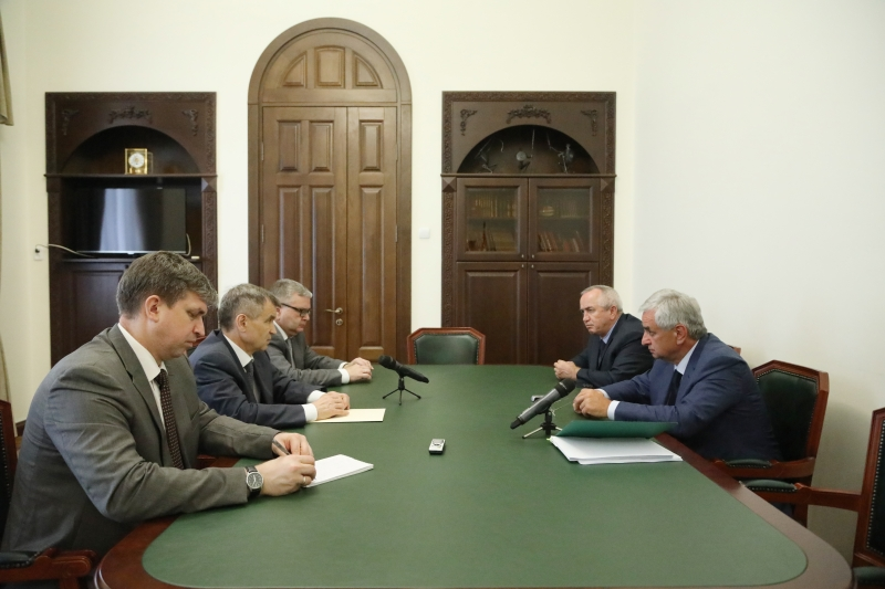 The President Had a Meeting with Deputy Secretary of the Security Council of the Russian Federation Rashid Nurgaliyev