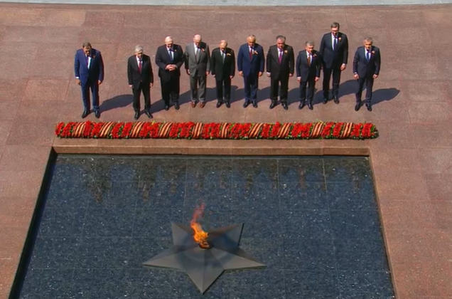 Aslan Bzhaniya Laid Flowers at the Eternal Flame in Moscow