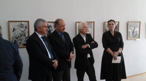 Attending the Exhibition of the Artists from the Kabardino-Balkar Republic