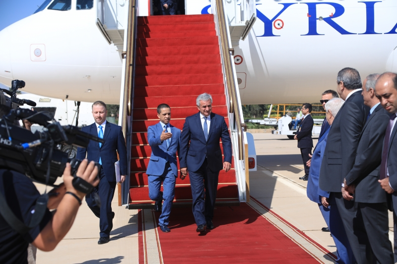 The President Arrived in the Syrian Arab Republic with an Official Visit