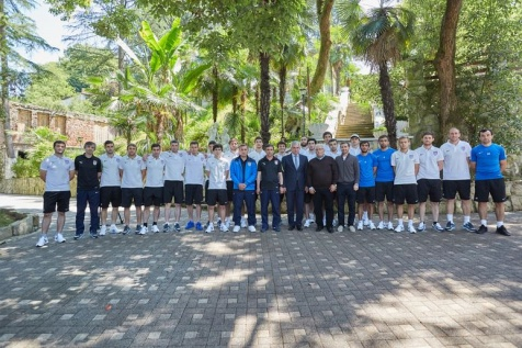 A Meeting with the Players and the Coaches of the National Football Team of the Republic of Abkhazia