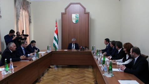 "A Meeting with an Abkhazian Delegation Which Participated in the 18th Agricultural Exhibition ""Golden Autumn – 2016"""