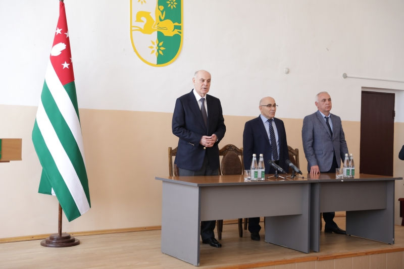 Aslan Bzhaniya Held a Working Meeting in the Administration of the Gulripsh District