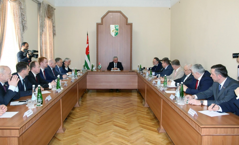 A Meeting with Election Observers to the Parliament of Abkhazia from Russia and the Union State