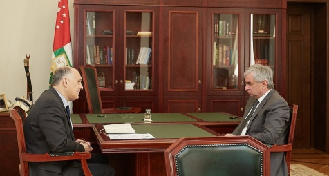 A Meeting with the Minister for Foreign Affairs Viacheslav Chirikba