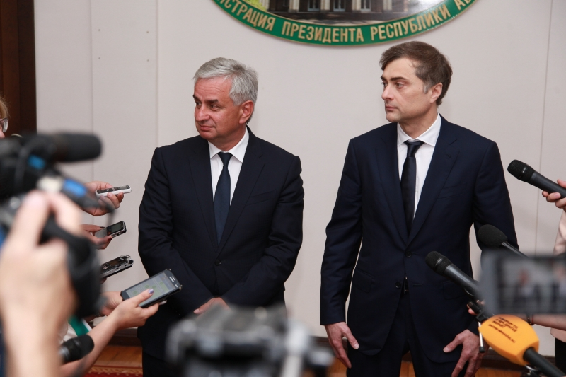 Raul Khadzhimba and Vladislav Surkov's Interview to the Press