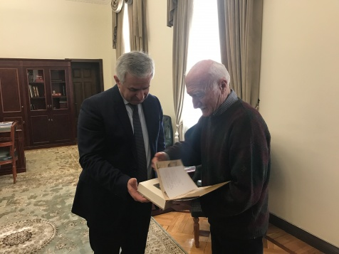 "The President Was Presented with an Advance Copy of the Book ""Charmed by Abkhazia. The Life and Journeys of Nikolai Albov"""