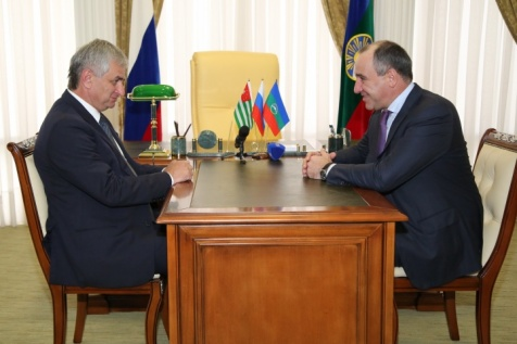 A Meeting of the President with the Acting Head of the Karachay-Cherkess Republic