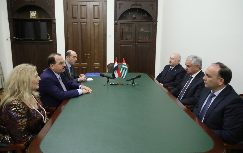 The President Had a Meeting with Ambassador Extraordinary and Plenipotentiary of the Syrian Arab Republic in the Russian Federation Riad Haddad